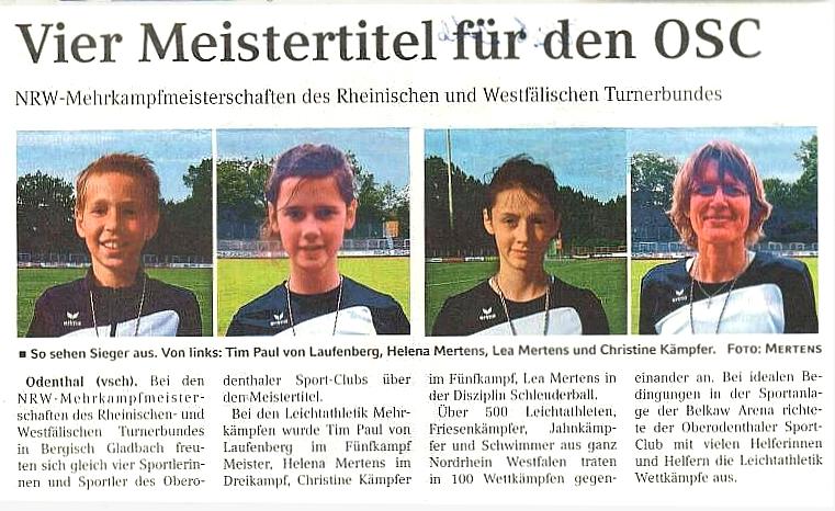 NRW Mehrkampfmeisterschaften 04.06.2016
