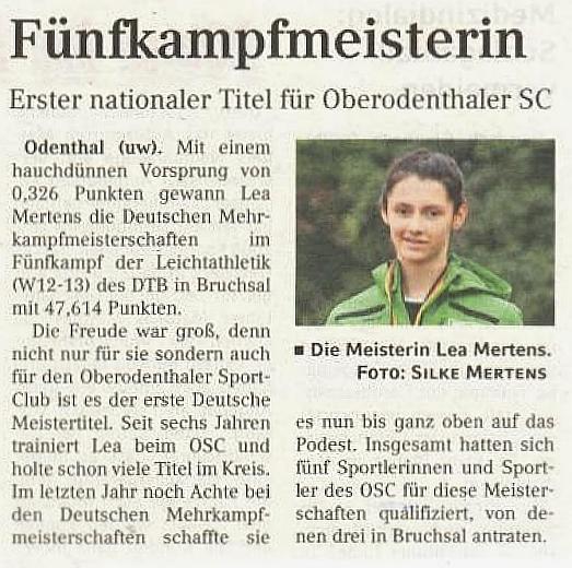 Presseartikel Bergisches Handelsblatt, Ausgabe vom 23.10.2016